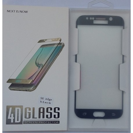 Glass Protector SAMSUNG S6 Edge Black High Quality