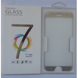 Glass Protector SAMSUNG S7 Edge Gold High Quality