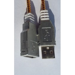 USB Extension Cable Silver
