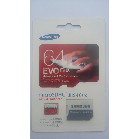 memory card 64 gb evo plus 80mbs