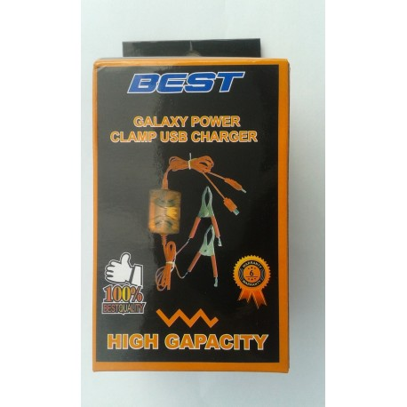 DC Clamp USB Charger 2 in 1