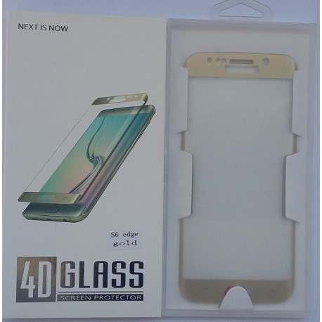 Glass Protector SAMSUNG S6 Edge Gold High Quality