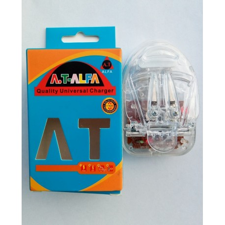 AT ALFA Crystal Universal Charger with Blinking Lights