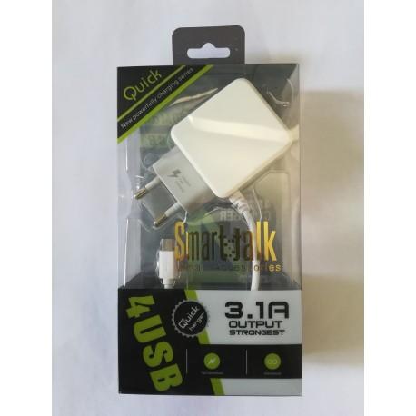Smart Talk Quick Charger 4 USB 3.1A