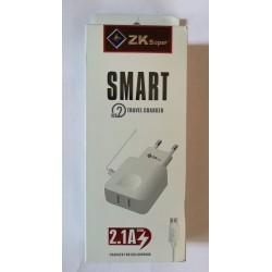 ZK 2.1A USB Super Smart Charger 8600