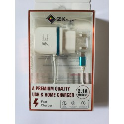 ZK Super Premium Quality Home Charger 2.1A
