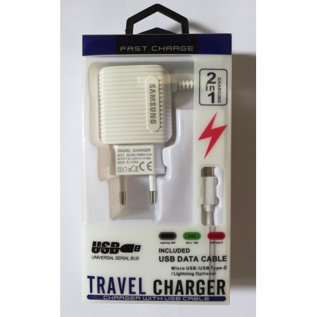 SAMSUNG Serial Bus Travel Charger 2.1A