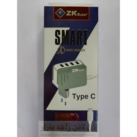 ZK Super Smart Charger 3.1A 5 in 1 Type C