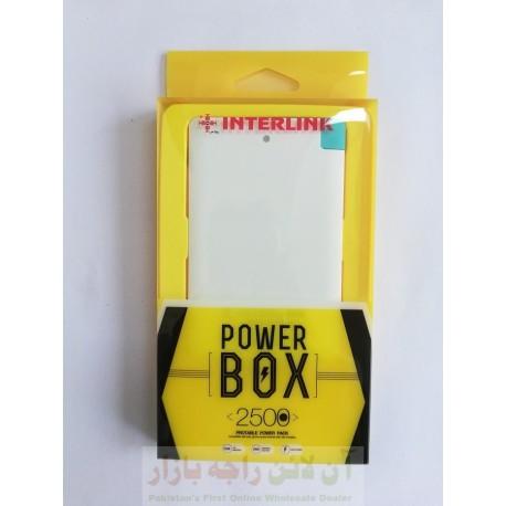 Pocket Size INTERLINK Power Bank 2500 mAh