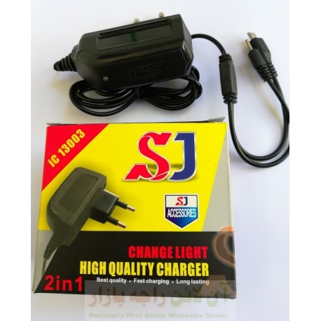 SJ 2in1 Charger N70 & Micro 8600 Change light Charging Indicator