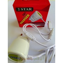 2 Star 2 in 1 Charger Micro 8600 & N70 1000mA