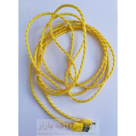 Flexible Rubber Core 3 Meter Long Data Cable Micro 8600