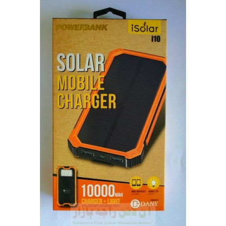 Original DANY Power Bank iSolar i10 with Solar Charging 10000mAh