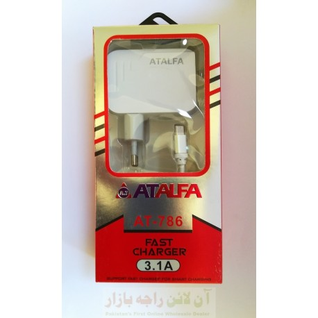 AT ALFA Fast Charger AT-786 3.1A 5-in-1 Micro 8600
