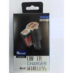 Broad Car FM Charger Modulator AUX Wireless KCB-905