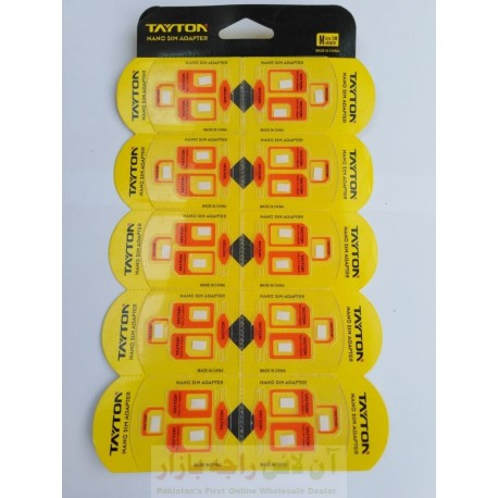TAYTON Micro Nano SIM Jackets Bundle of 10 Packs