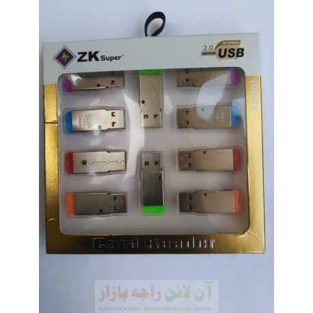 Pack of 10 Mini SD Card Readers ZK-Super