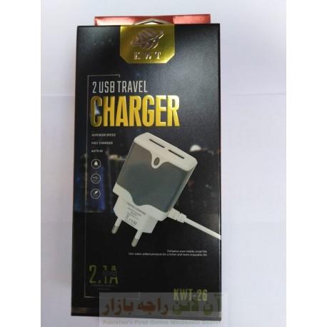 KWT Auto ID 2 USB Travel Charger 2.1 A Micro 8600 KWT-26