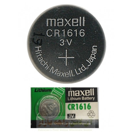 Maxell 1616 Battery Cell 3V Multi Purpose Cell