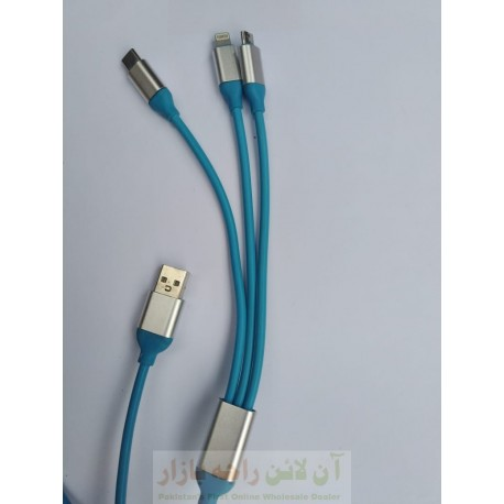 Data Cable 3in1 Type C Micro 8600 & iphone 567
