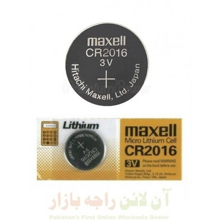 Maxell CR2016 Battery For Calculator & Watches 3V
