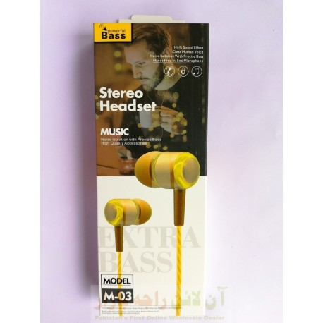Power Bass Stereo Hands Free M-03