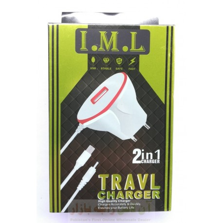 IML 2in1 Stable Travel Charger Micro 8600