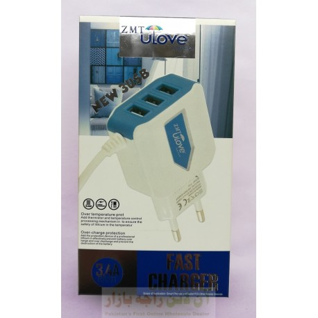 ZMT ULove 3 USB Charger 3.4A Micro 8600