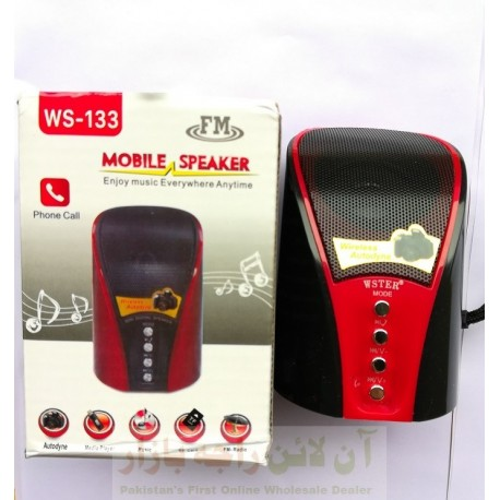 FM Wireless Mobile Speaker Phone Call Support WS-133