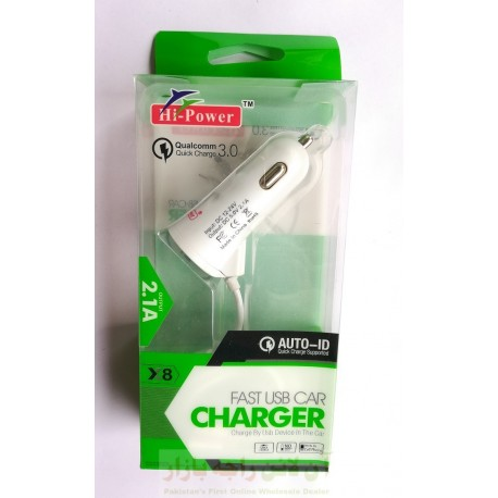 Hi Power Fast Car Charger with Adaptive Auto ID Support