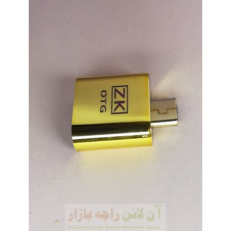 ZK Shining Gold OTG Connector UDB to Micro 8600