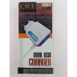 IML 5V Auto ID 2.1A Fast Charger 2USB Micro 8600