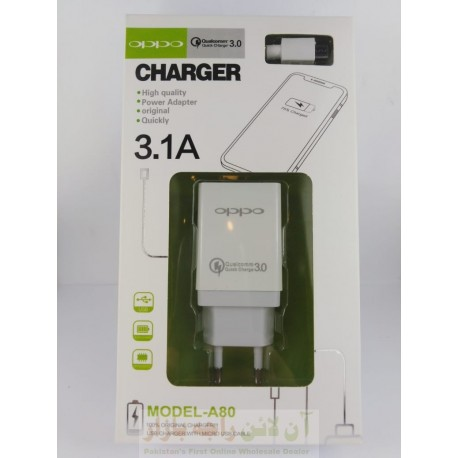 OPPO High Quality Charger 3.1A Micro 8600 A80