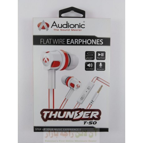 Audionic Flat Wire Thunder Hands Free T50