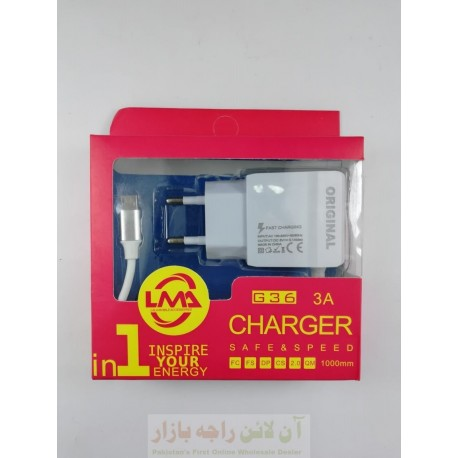 LMA Original Safe & Fast Charger 3A Micro 8600 G36
