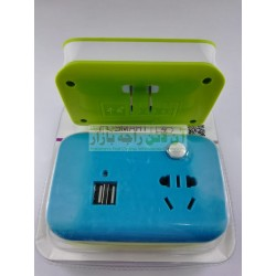 Utility Socket Plug with Builtin USB Charger & AC Socket