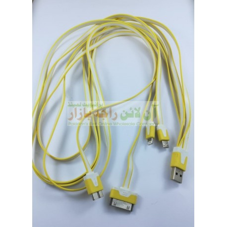 4in1 Data Cable Micro 8660 iphone 4 SAMSUNG Note Series & Iphone 5-6-7