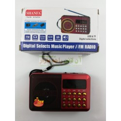 SHANFA Classic Style FM Radio MP3 Player with USB & SD Card Support