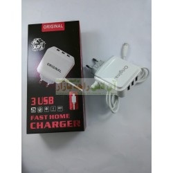 3USB Fast Home Original Charger 3.1A Micro 8600