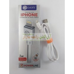 Dany Premium Poer Line 1000mm Data Cable For iPhone