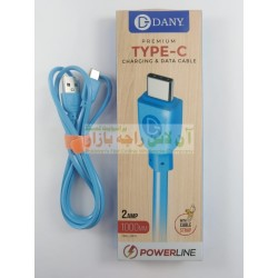 Dany Premium Power Line 1000mm Data Cable Type C