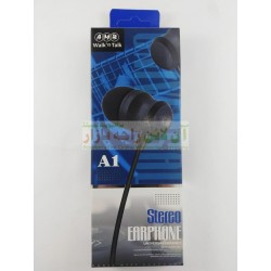 AMB Universal Heavy Bass Stereo Earphone A-1