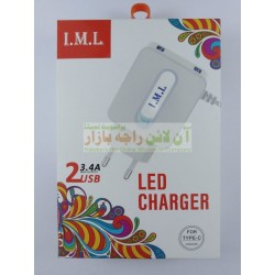 IML 3.4A E LED Type-C Travel Charger