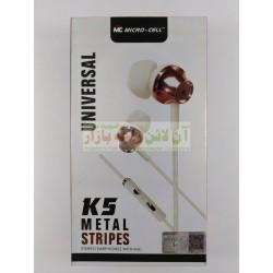 MicroCell Universal K-5 Metal Stripes Earphone