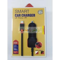 High Power Smart Car Charger with Extra Usb Port