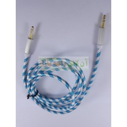 Zebra Texture Golden Grip AUX Cable