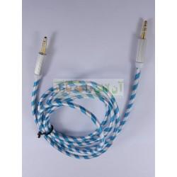 Zebra Texture Golden Grip AUX Cable