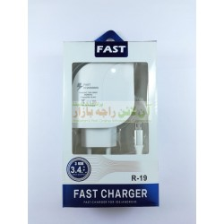Fast 3USB Charger 3.4A Micro 8600 R19