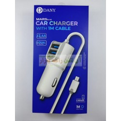 DANY Mars M-90 Dual USB Car Charger 2.4A Micro 8600