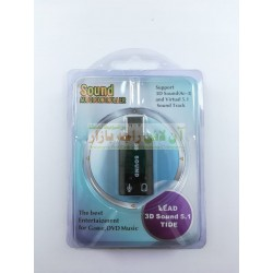 3D USB Sound Card & Voice Controller
